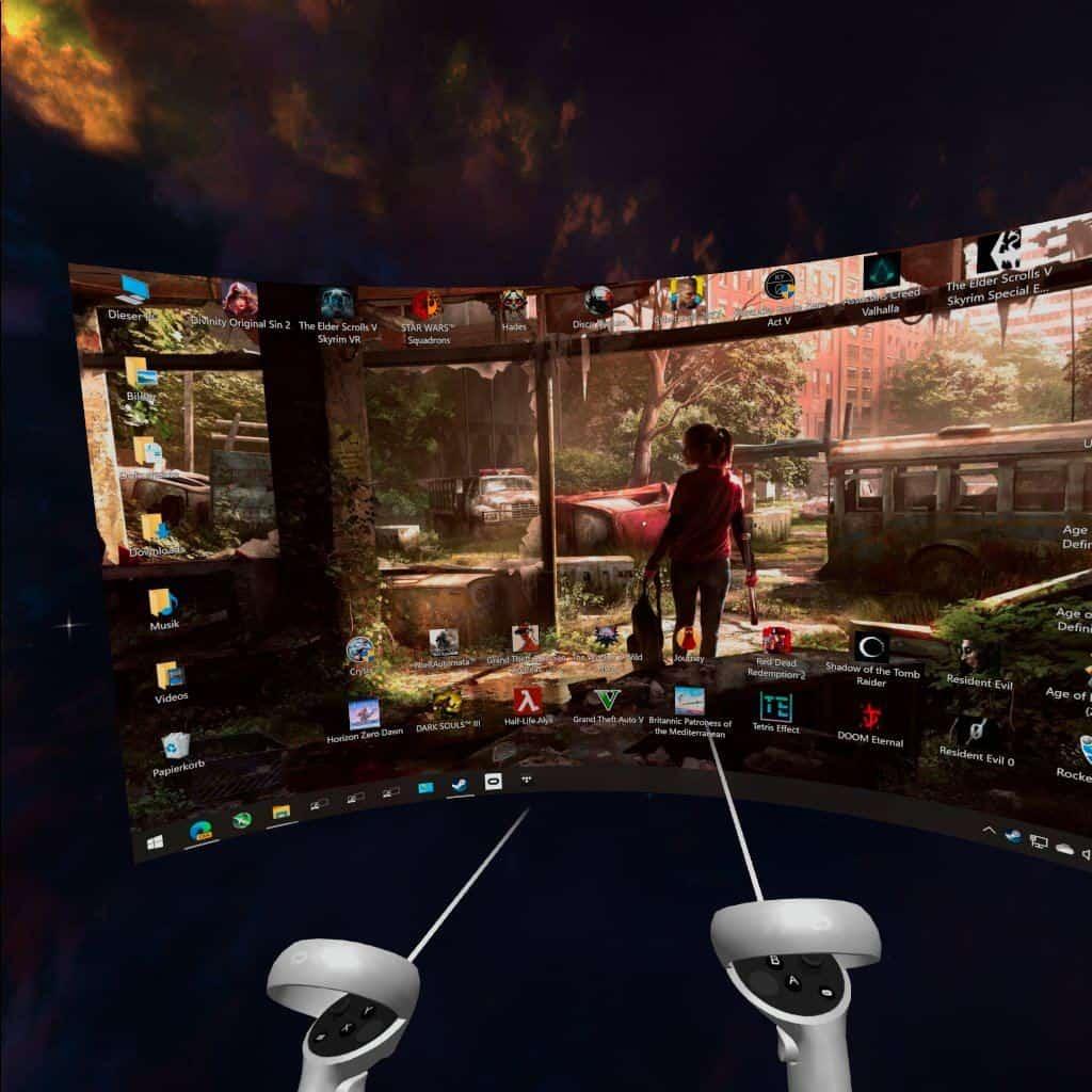 Virtual Reality über PC starten