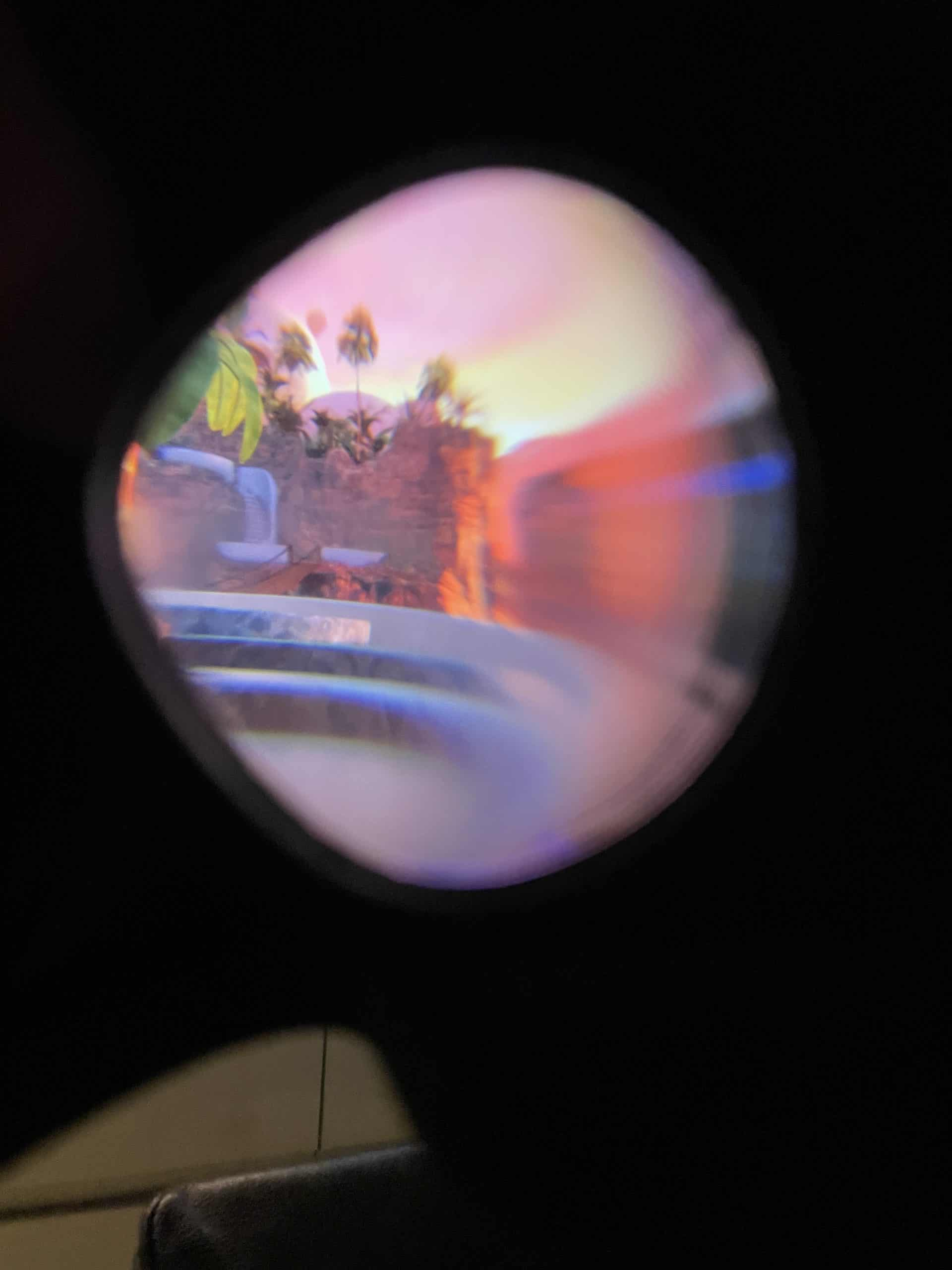 Virtual Reality Blick durch die Brille