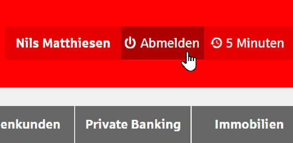 Abmelden beim Online-Banking