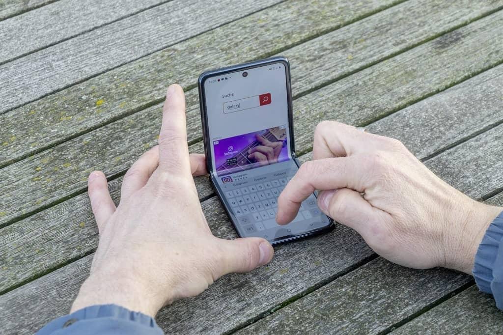 Galaxy Z Flip eingeklappt