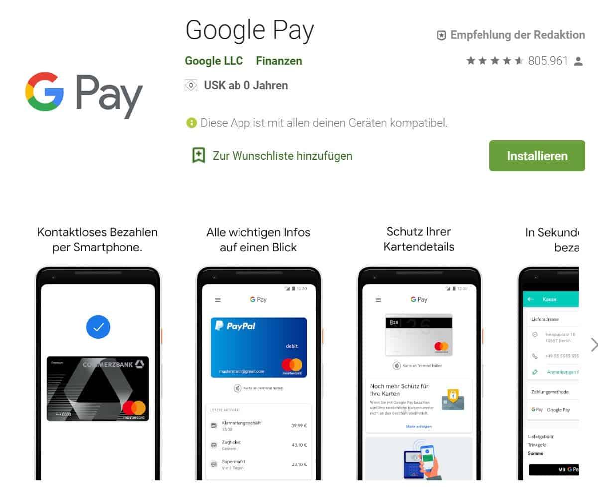 Google Pay und PayPal verbinden