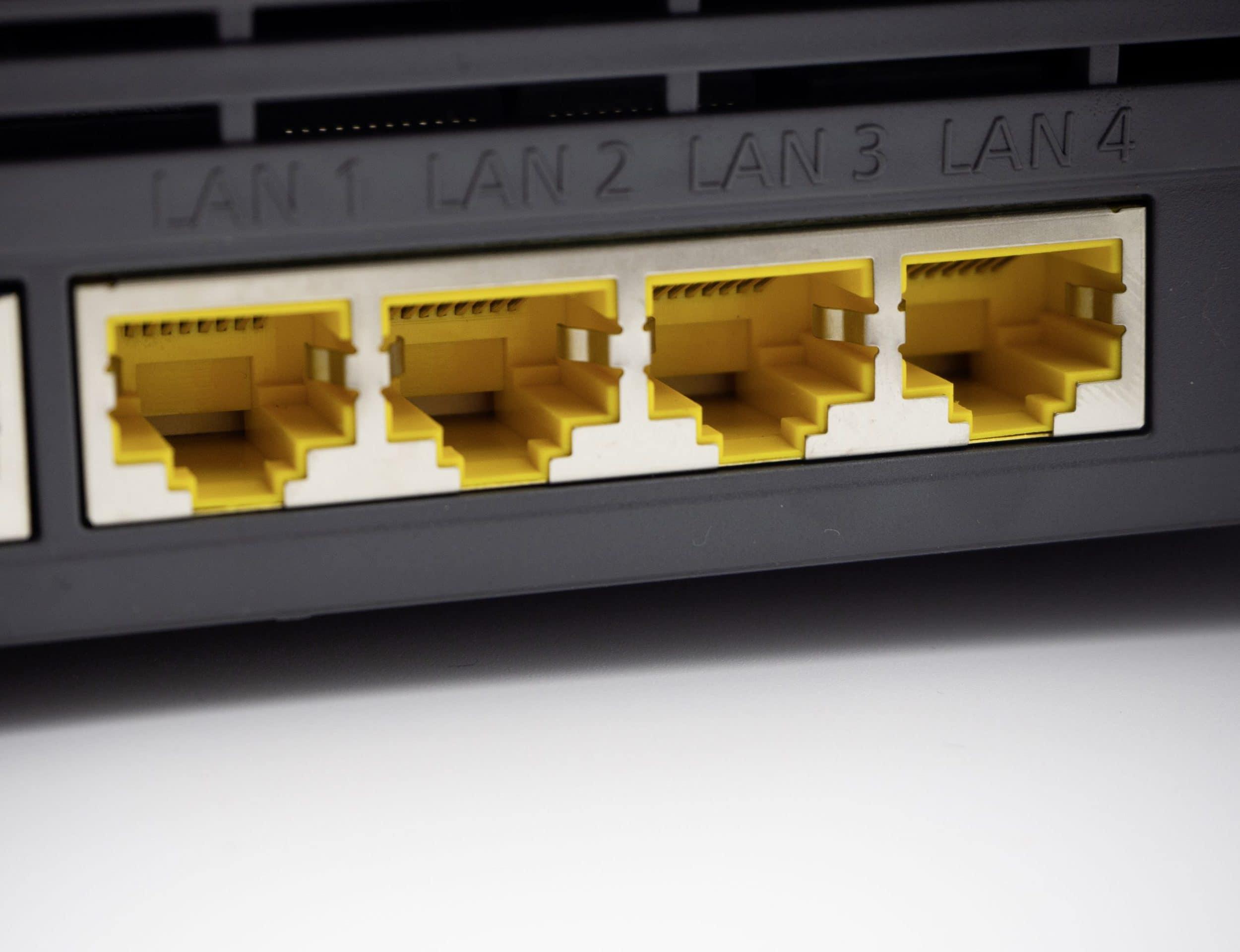 LAN-Ports bei WLAN-Router im Test