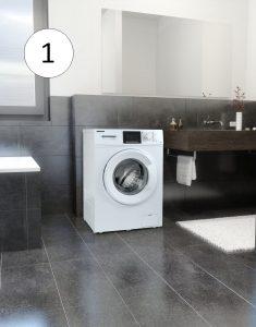 Medion Waschmaschine im Badezimmer