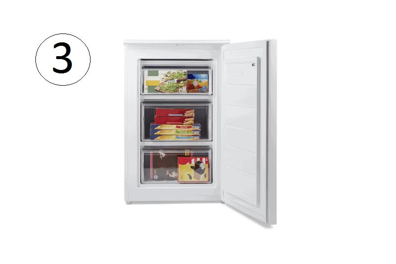 Medion Kühlschrank mit geöffneter Türe