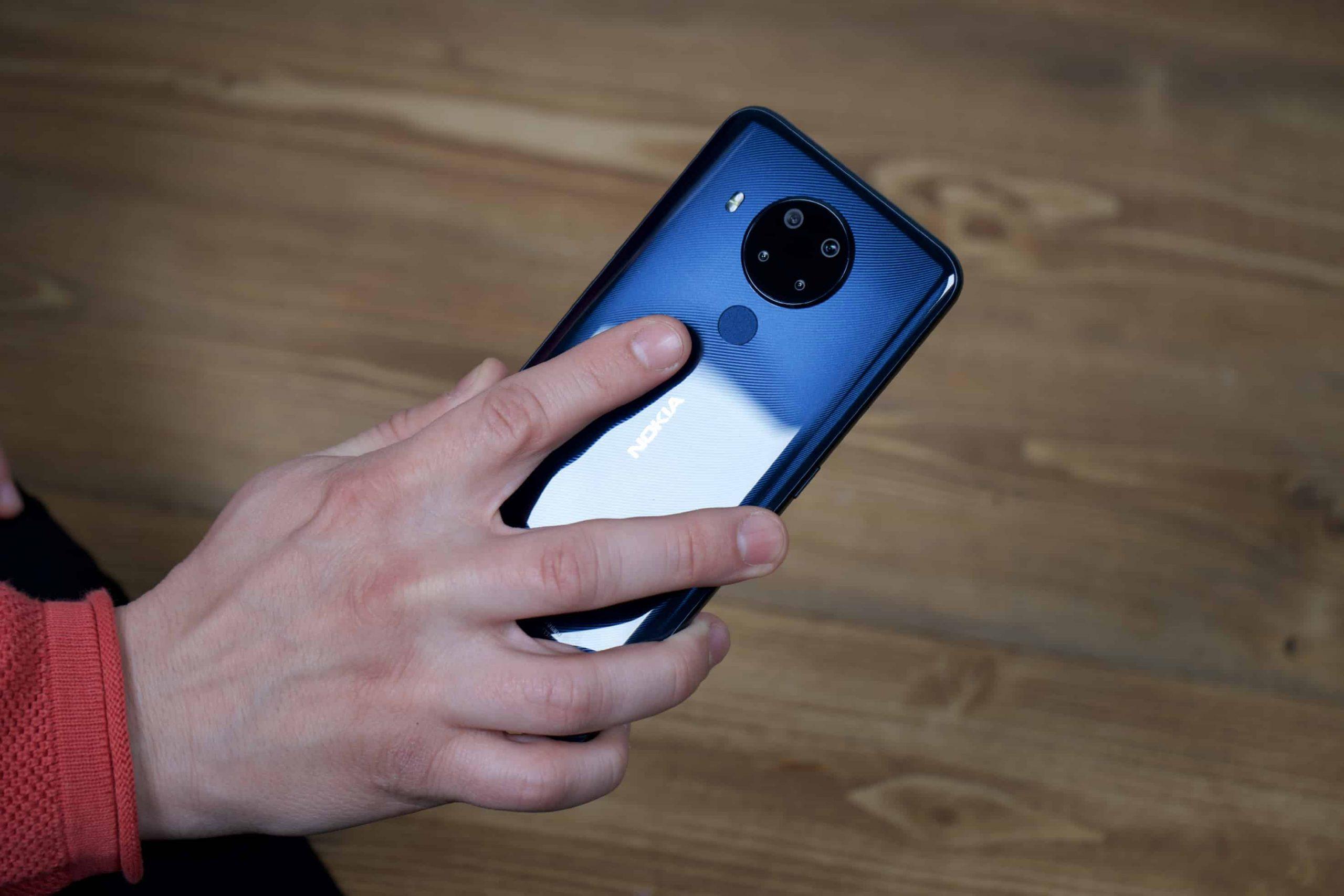 Smartphone Test Fingerabdrucksensor