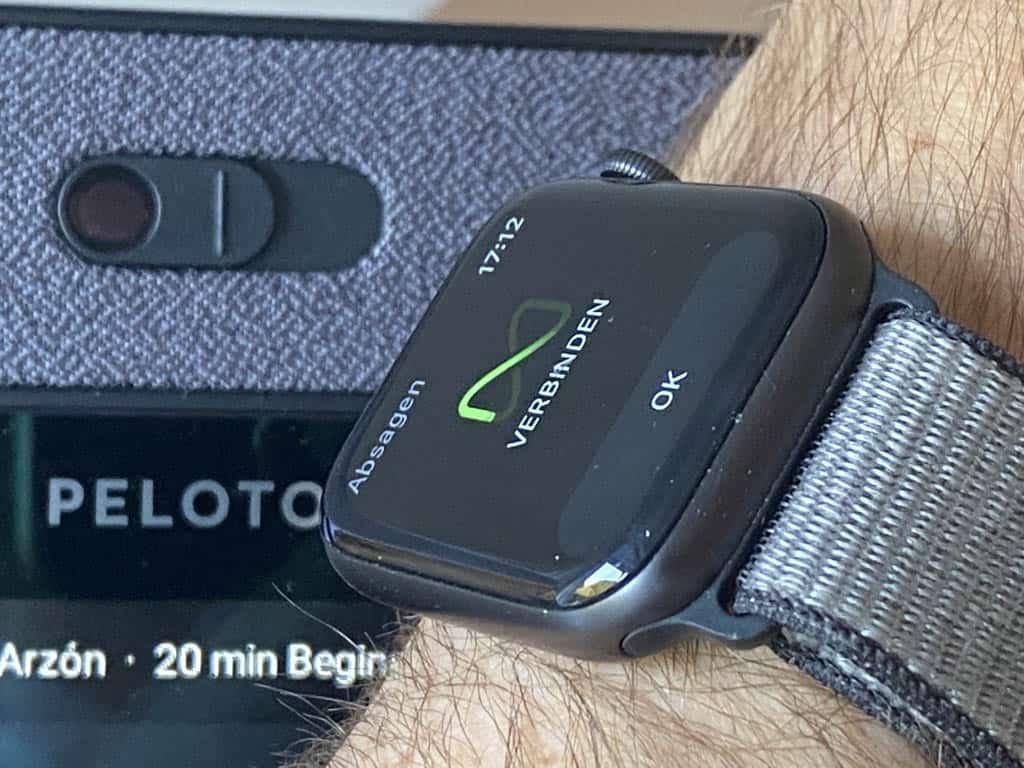 Peloton Bike+ mit Applewatch verbunden