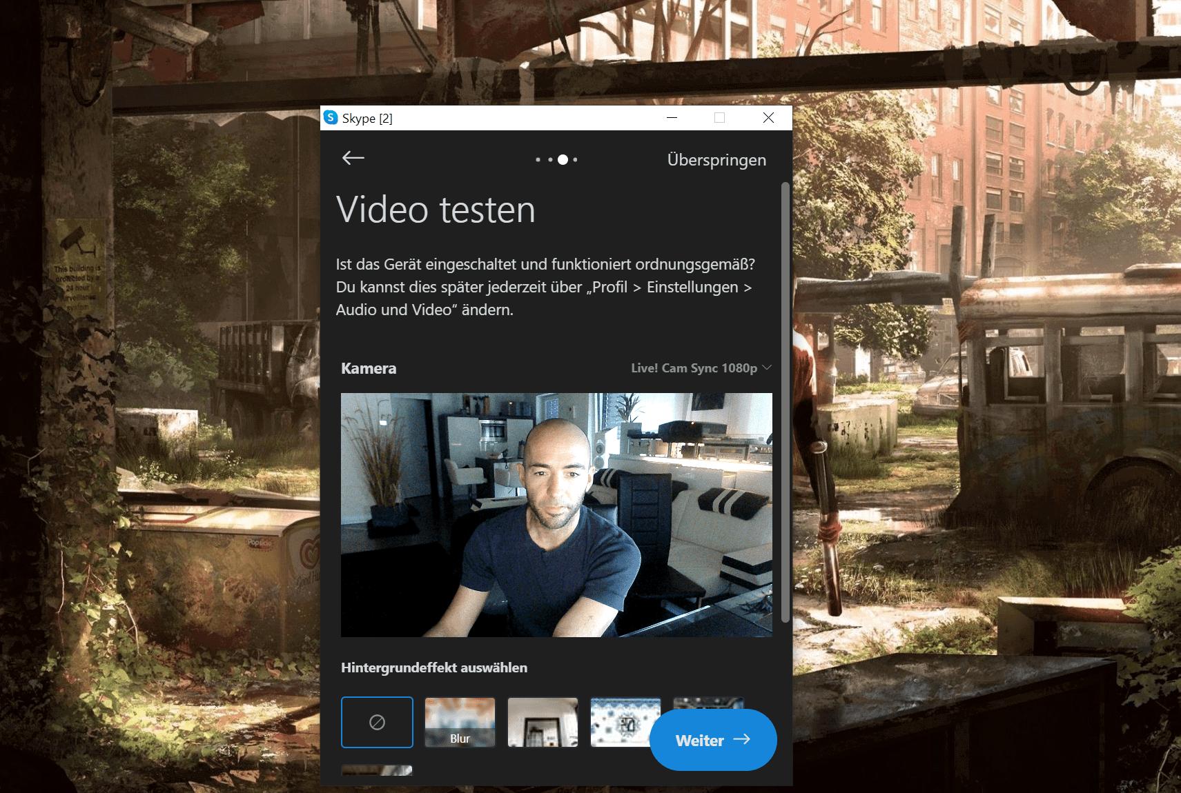Creative Webcam im Einsatz