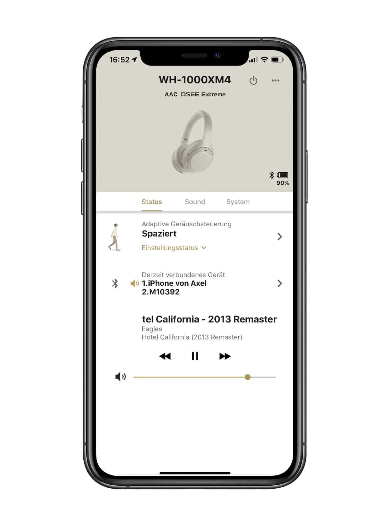 App für den Sony WH-100XM4