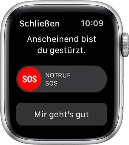 Apple Watch Sturzerkennung