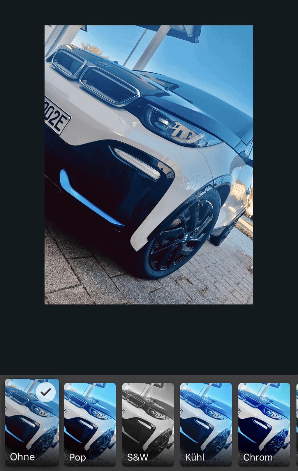 Screenshot Filter Bildergalerie Smartphone