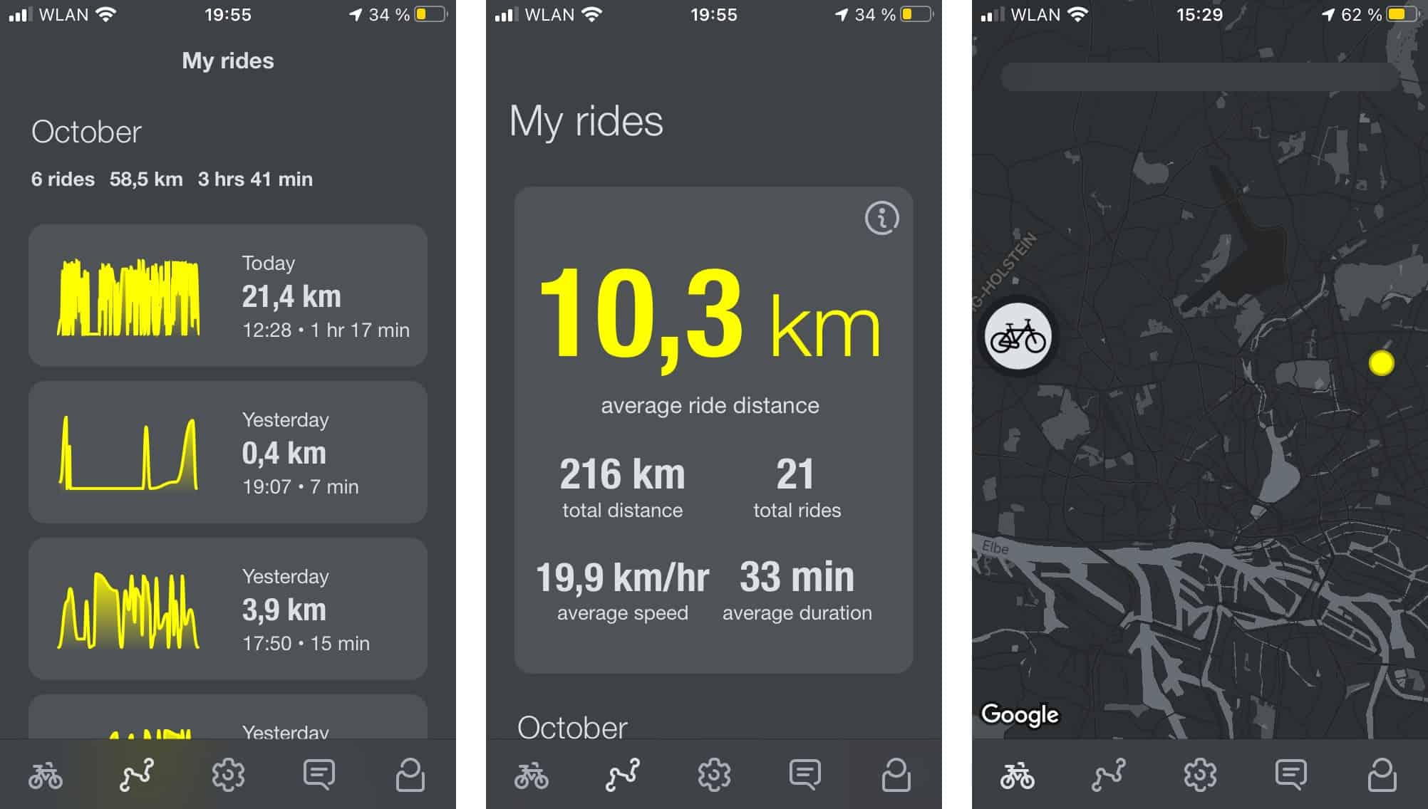 App für E-Bike VanMoof S3