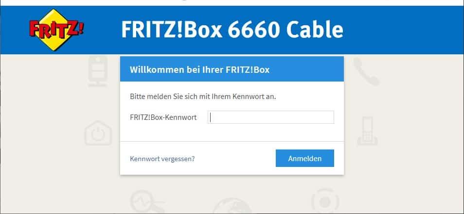 Fritzbox 6660 anmelden