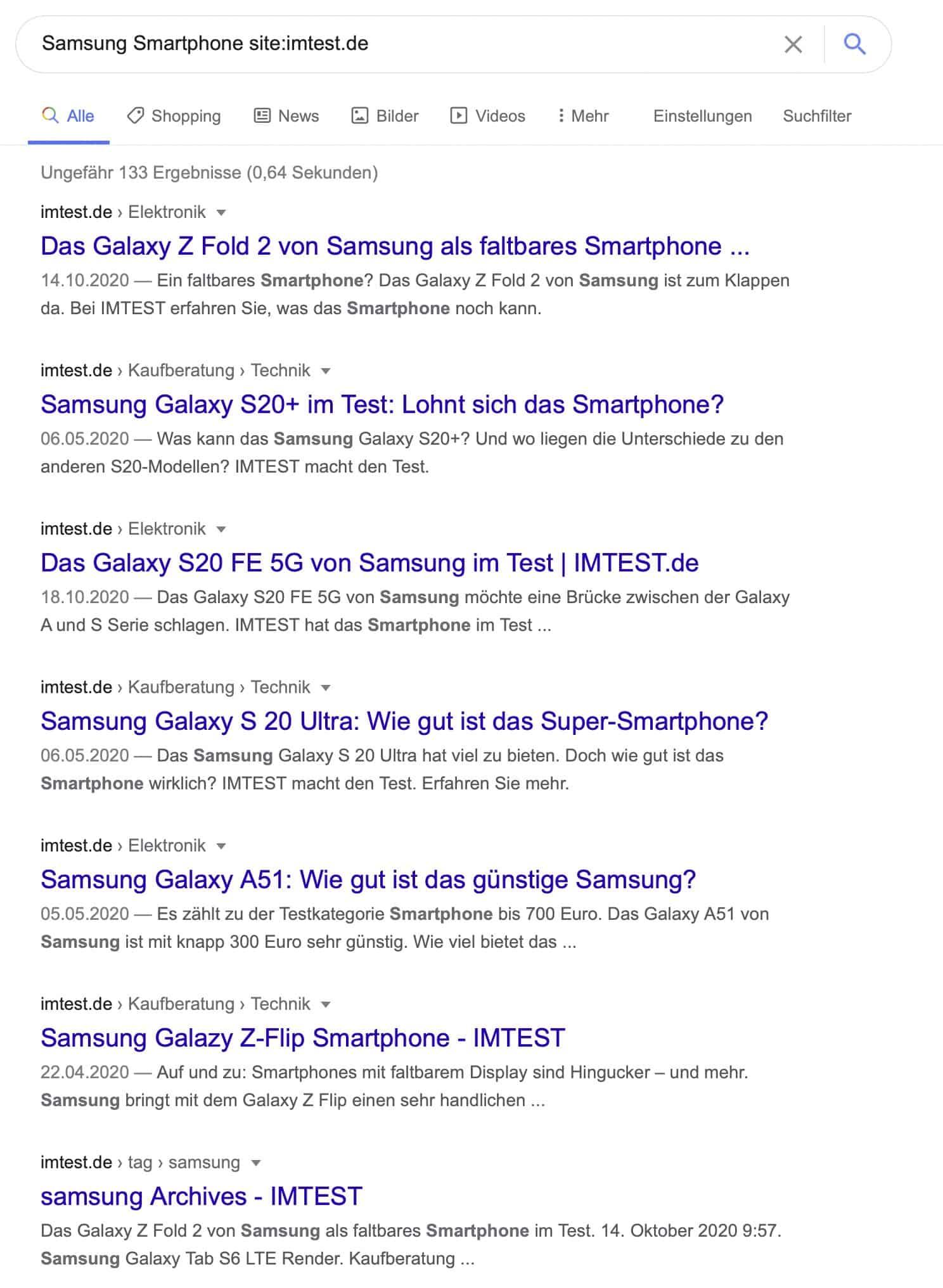 Google Suche Webseiten Tipps