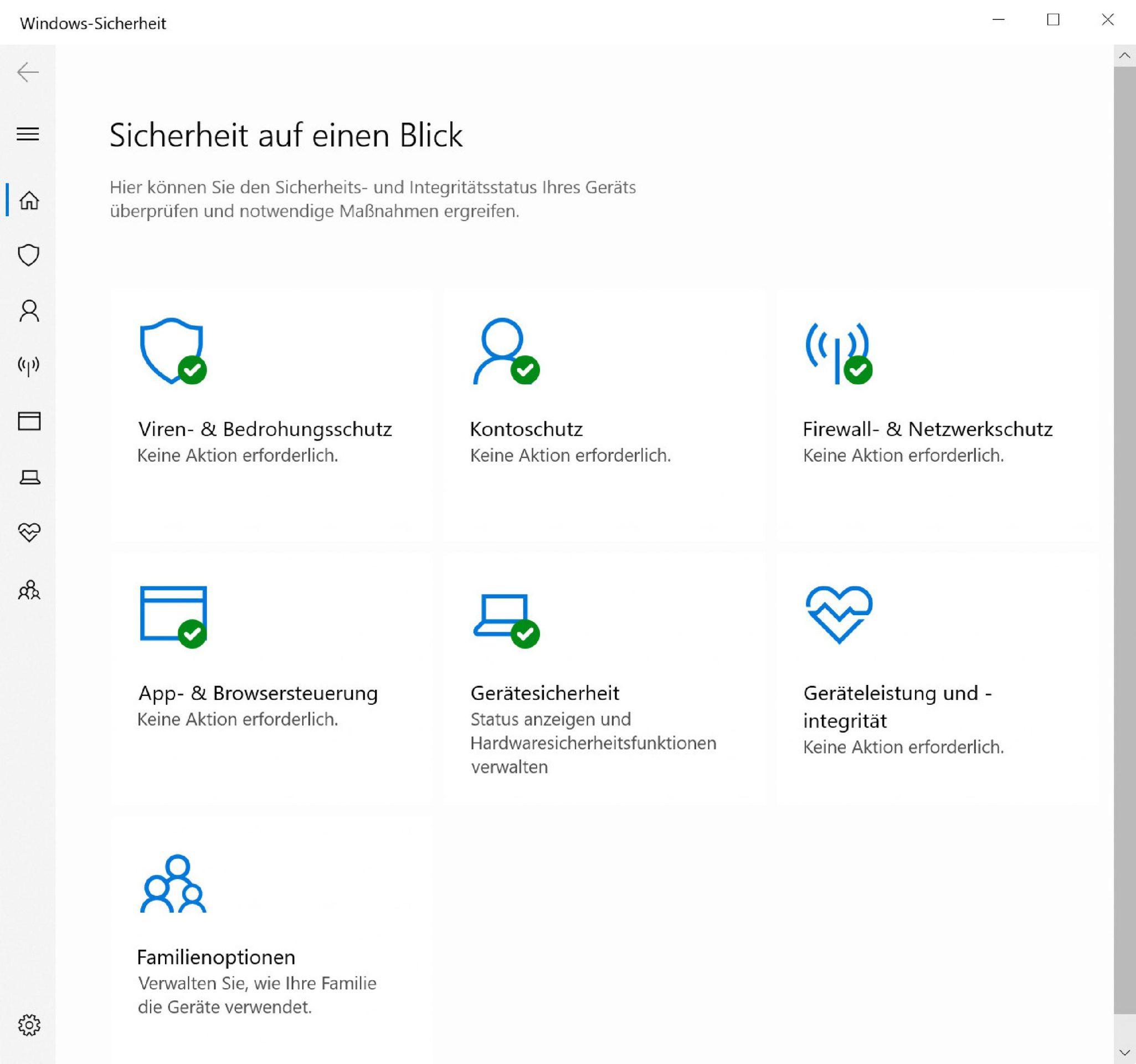 Windows Defender Virenschutz