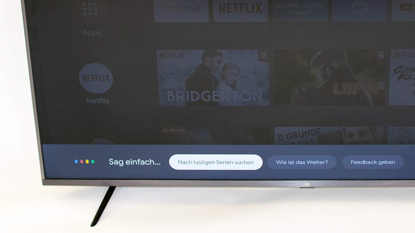 Sprachsteuerung bei 55 Zoll Fernseher