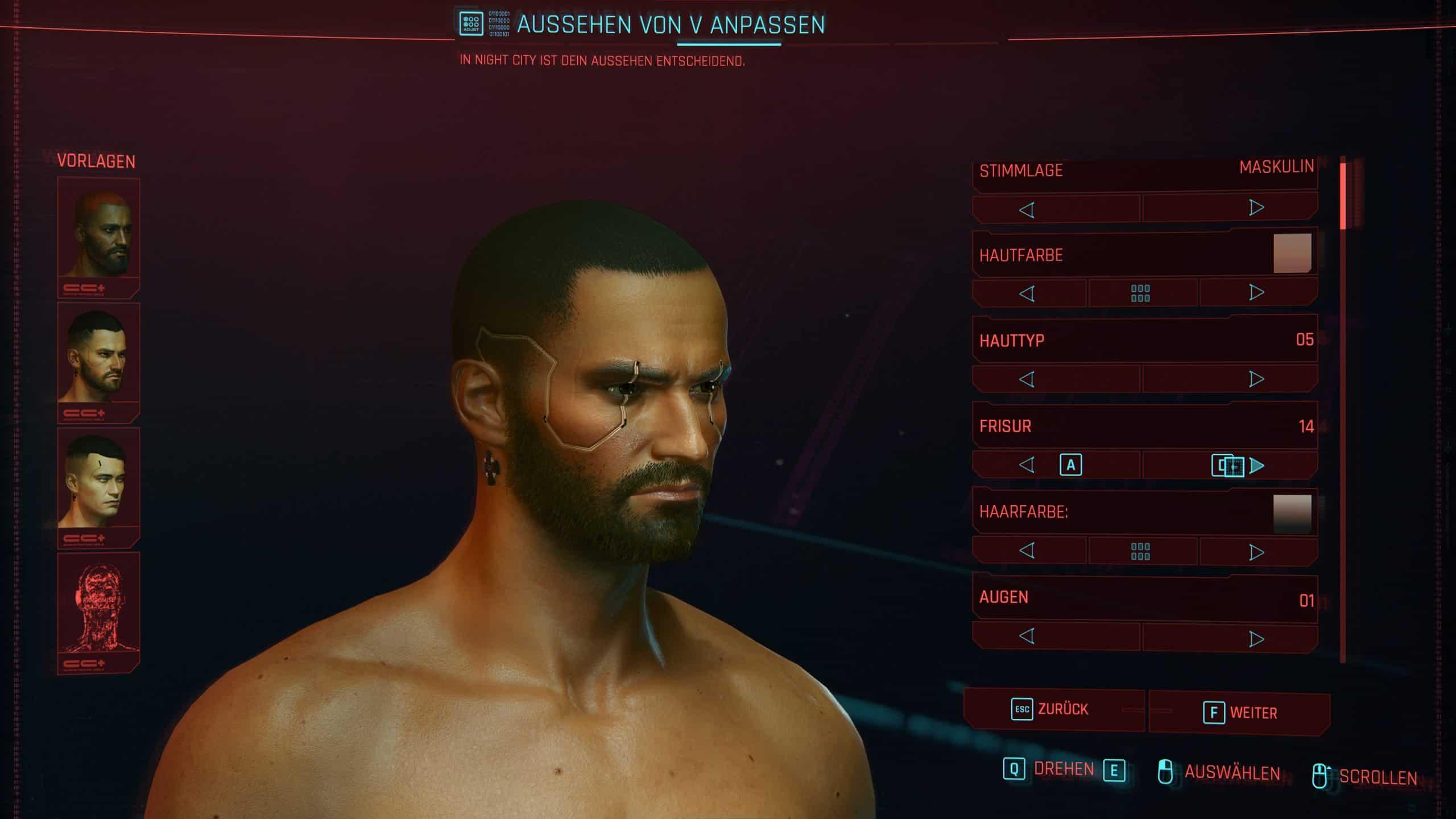 Cyberpunk 2077 Charakter verfeinern