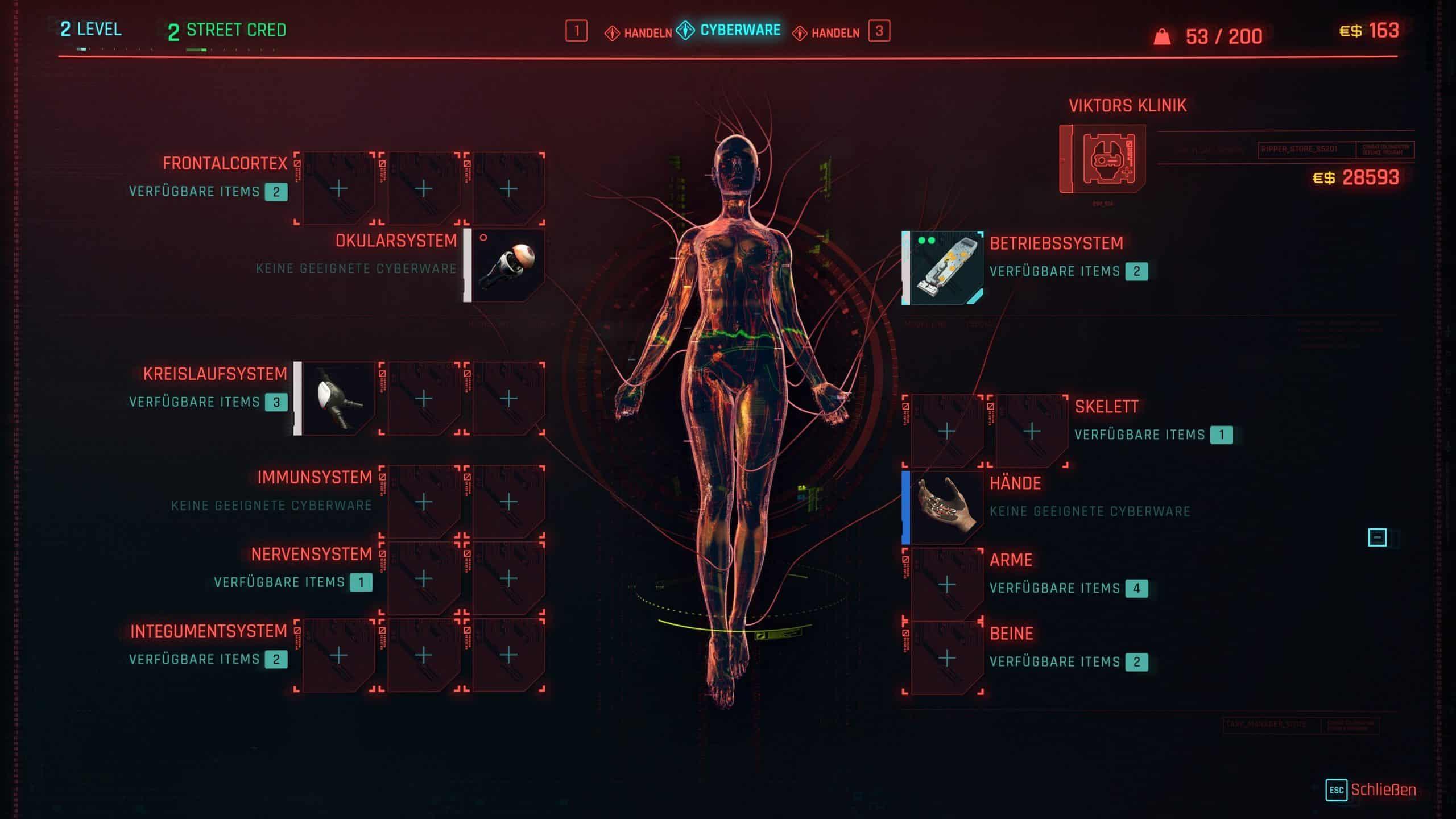 Cyberpunk 207 Implantate