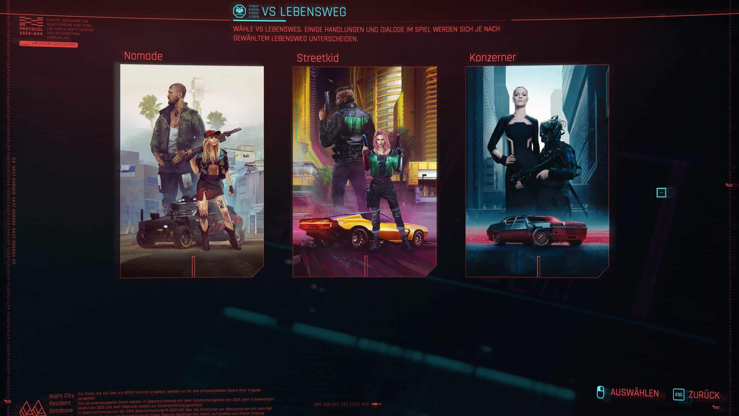 Cyberpunk 2077 Start