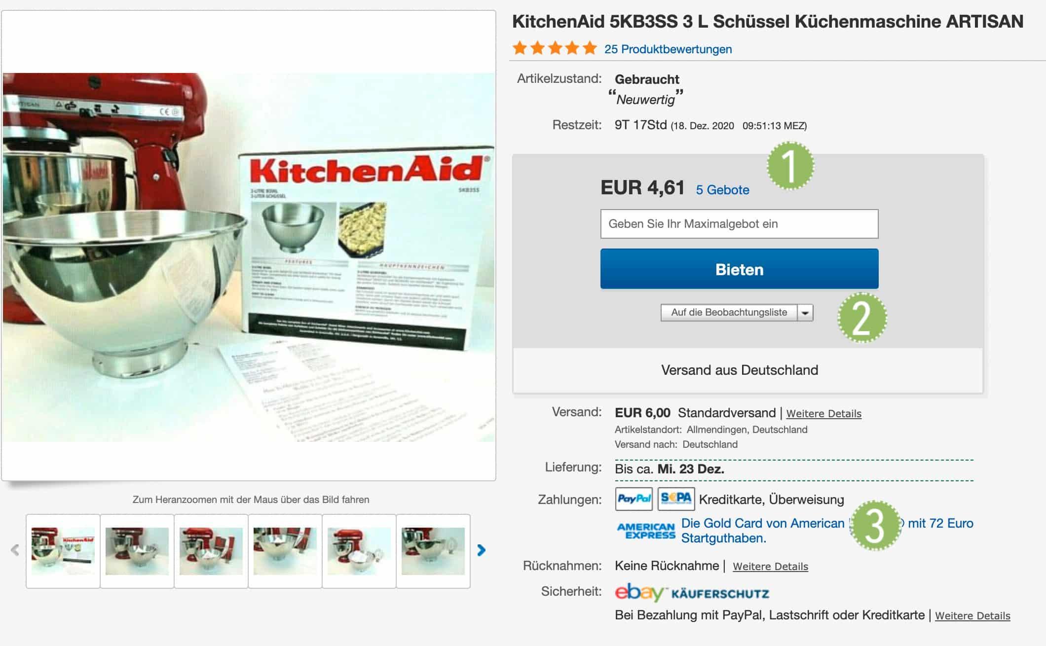Artikelbeschreibung eBay
