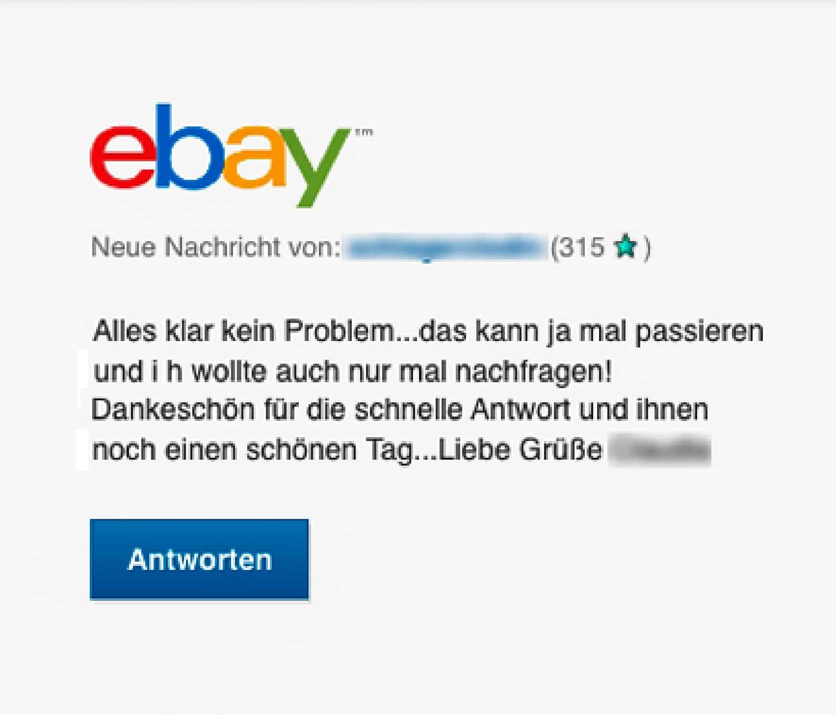Nachrichten von Käufer und Verkäufer auf eBay