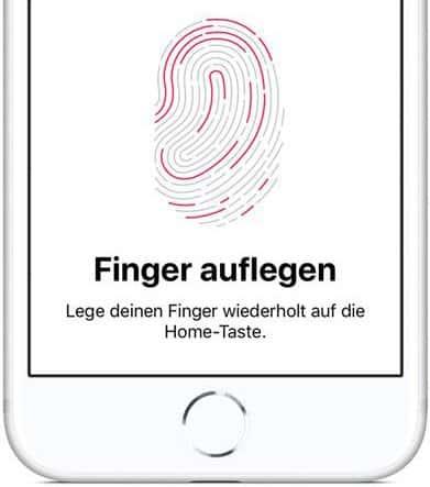 Apple iPhone Screen mit Fingerabdruck-Erkennung