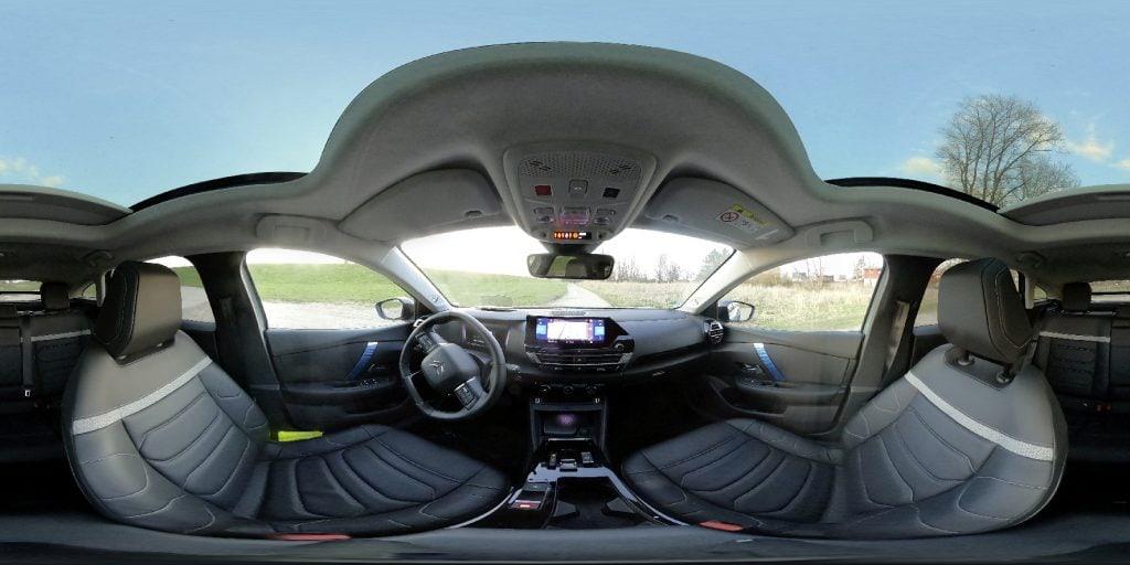 Panorama Ansicht eines Autos