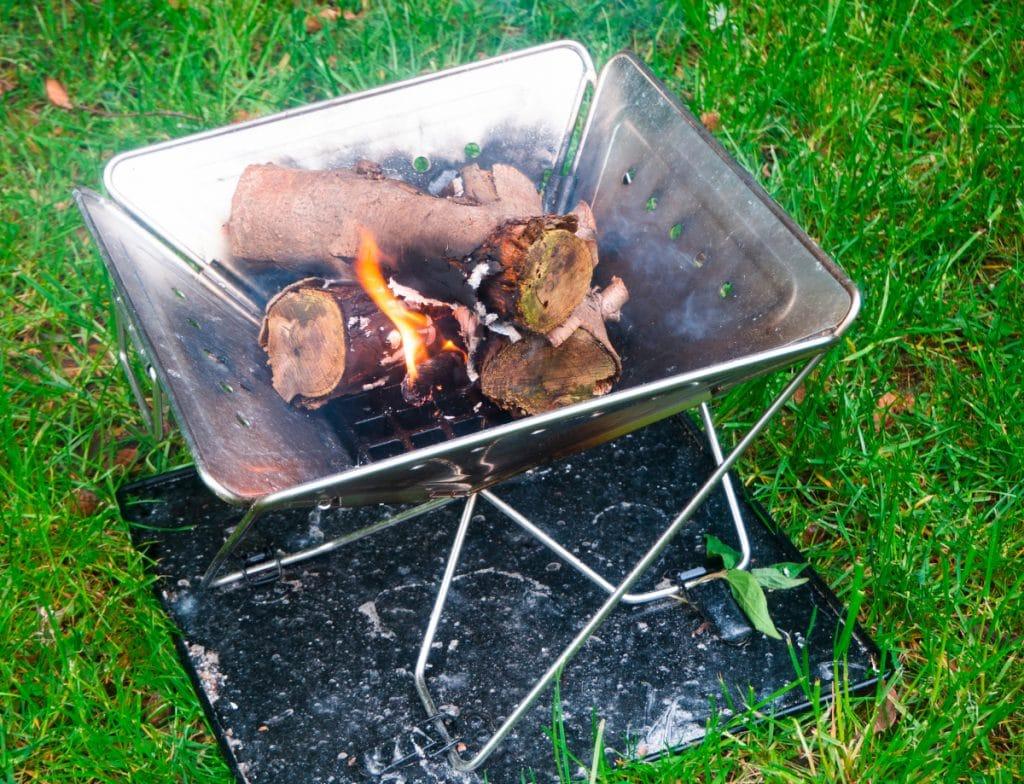 Mobiler Grill als Feuerschale nutzen