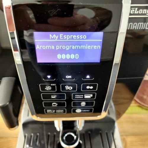 Kaffeeautomaten programmieren