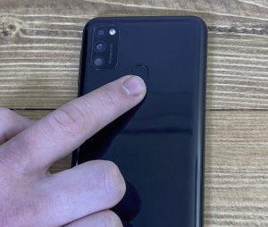 Fingerabdrucksensor am Samsung getestet