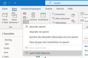 Spam Filter Outlook