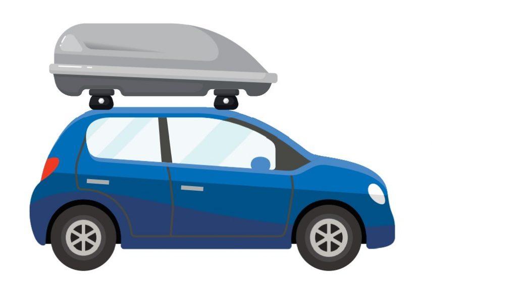 Kleinwagen mit Dachbox