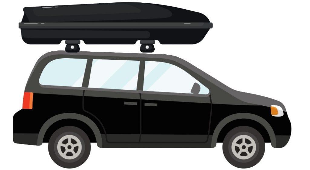 Dachbox auf einem SUV