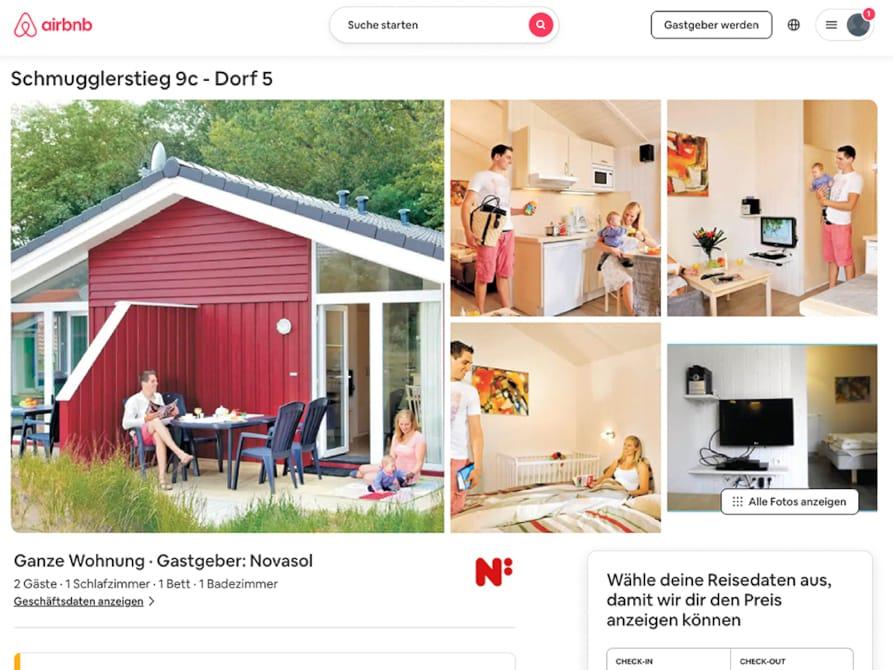 Anbieter Novasol hat bei Airbnb inseriert