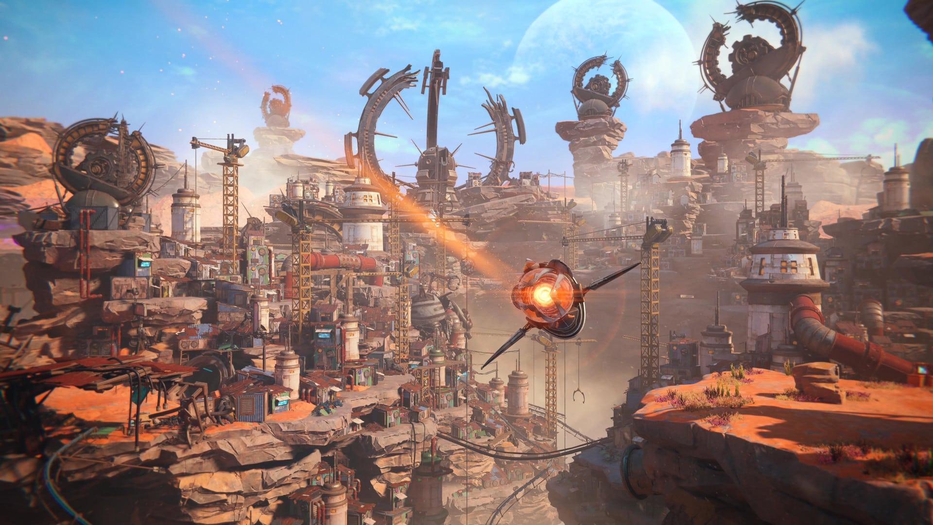 Detaillierte Spielumgebung bei Ratchet & Clank