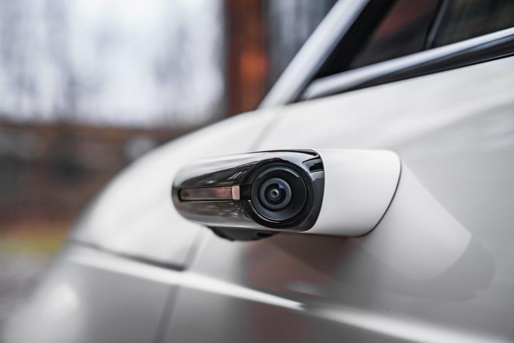 Virtueller Außenspiegels des Autos
