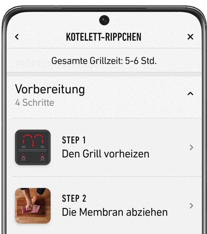 App zur Temperaturüberwachung von Weber