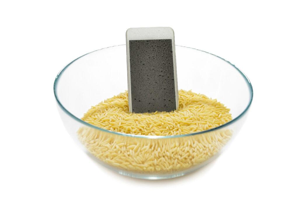Smartphone in Reis legen