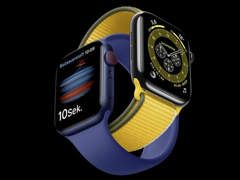 Eine Abbildung der Apple Watch 6