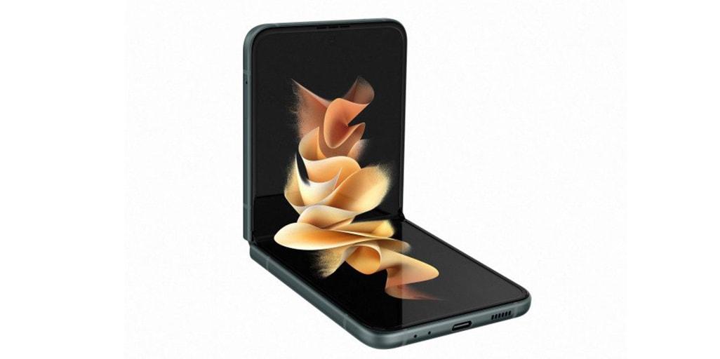 Das Samsung Galaxy Z Flip 3 aufgeklappt