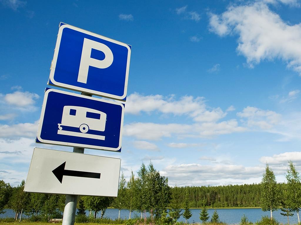 Schild für Camping-Platz