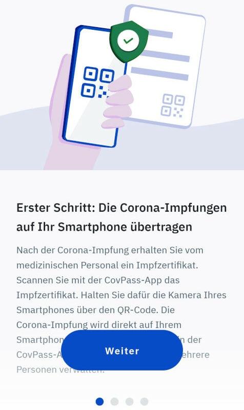 CovPass App Schritt 1
