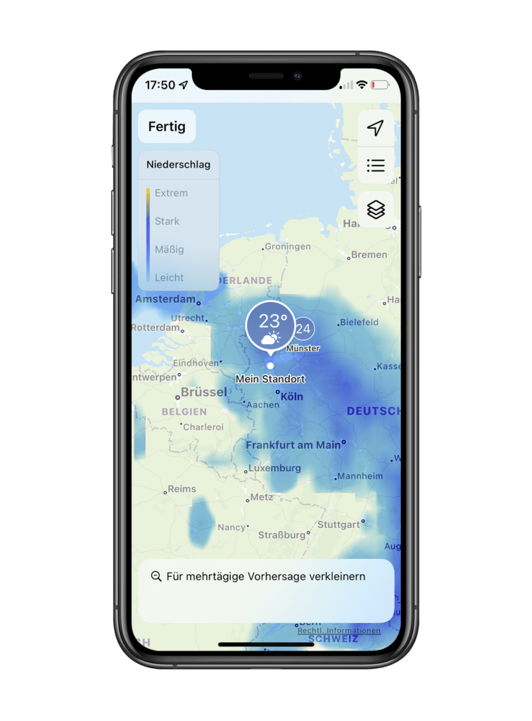iOS 15 WetterApp