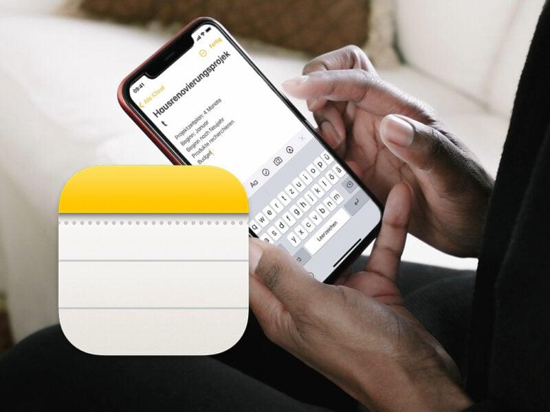 Eine Hand bedient ein Smartphone