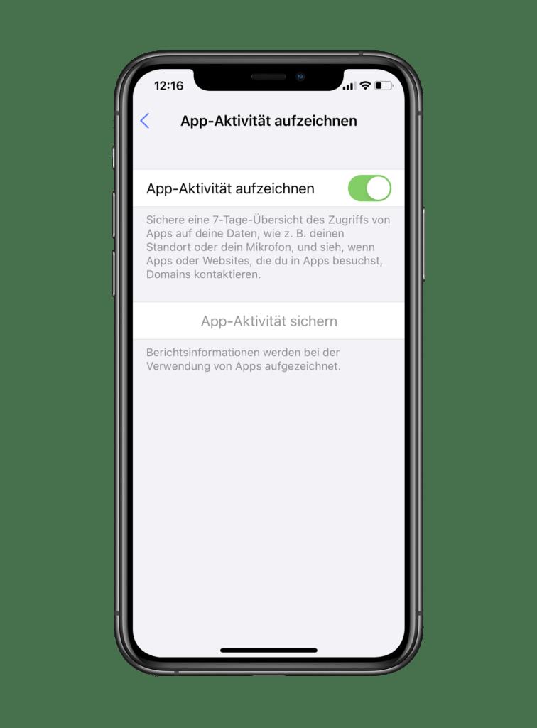 ios 15 App Aktivitaet