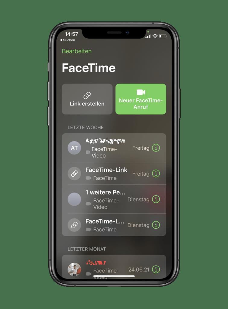 Face Time Einladung