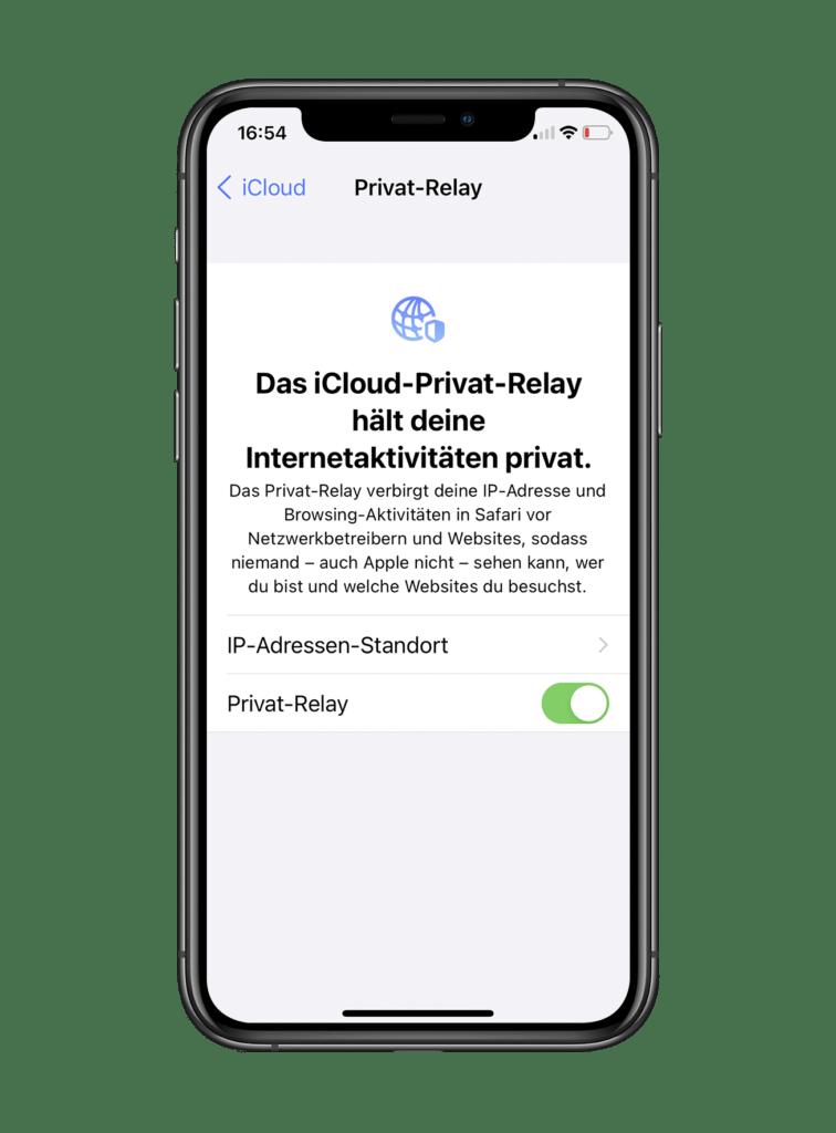 iOS 15 Privat Relay einschalten