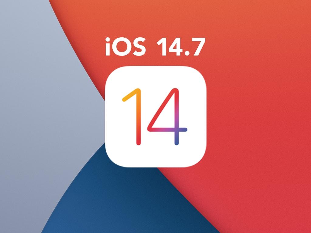 Das Logo von iOS 14.