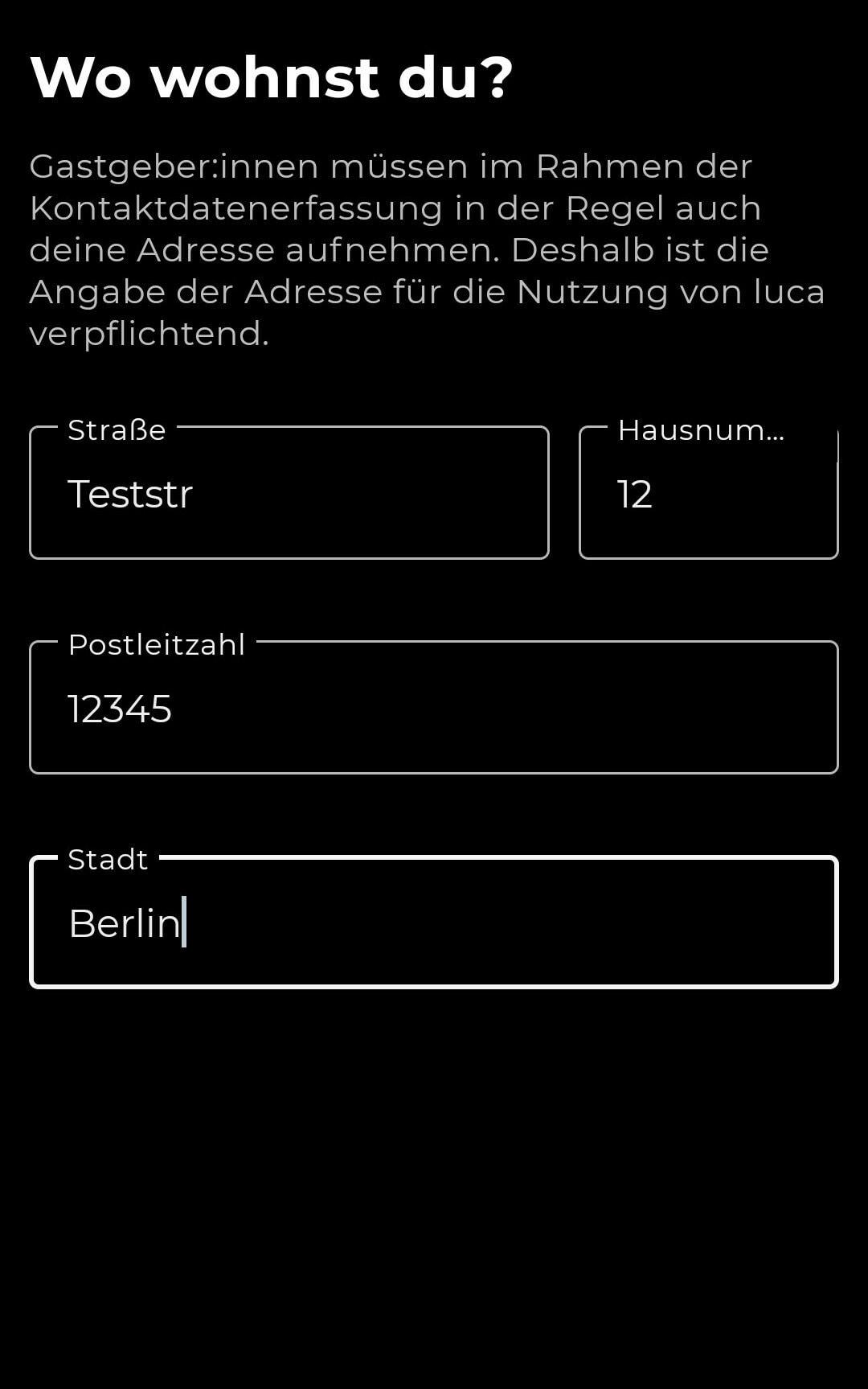 Auf der Luca-App sind Fakenamen möglich