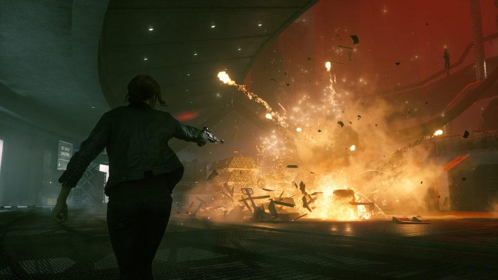 Eine Spielfigur verursacht eine Explosion