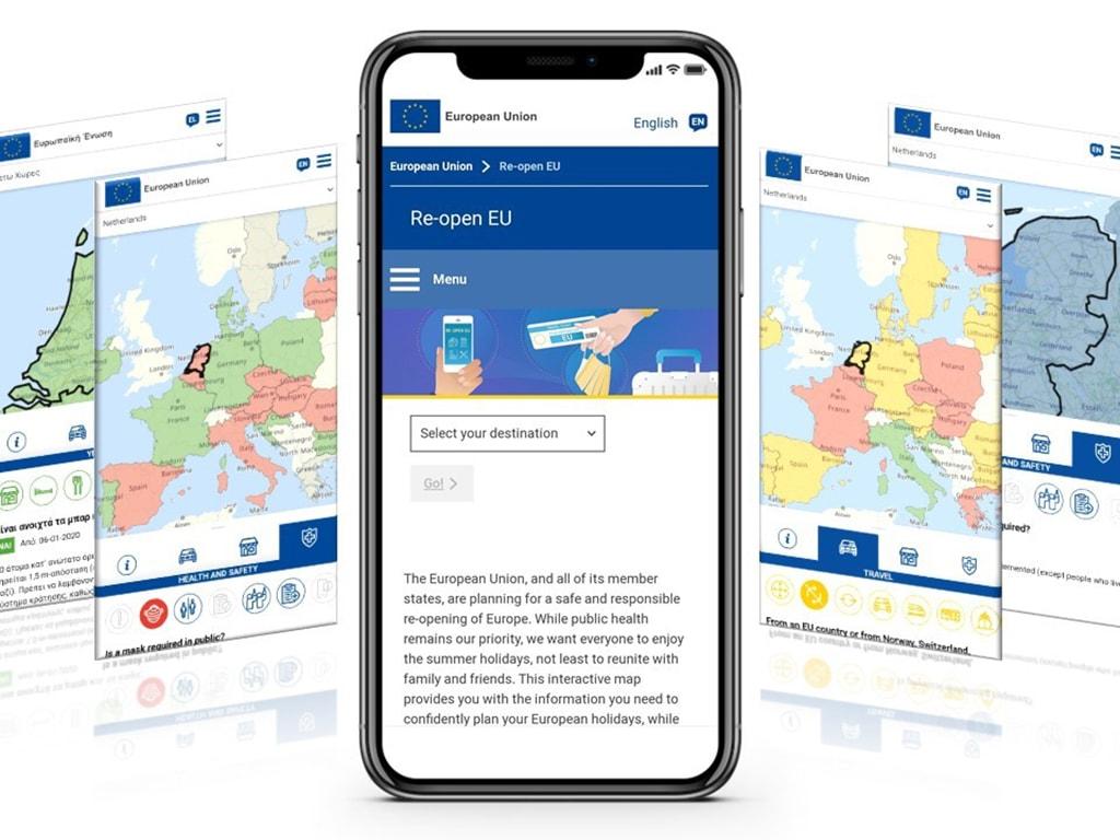 Eine App der Europäischen Union